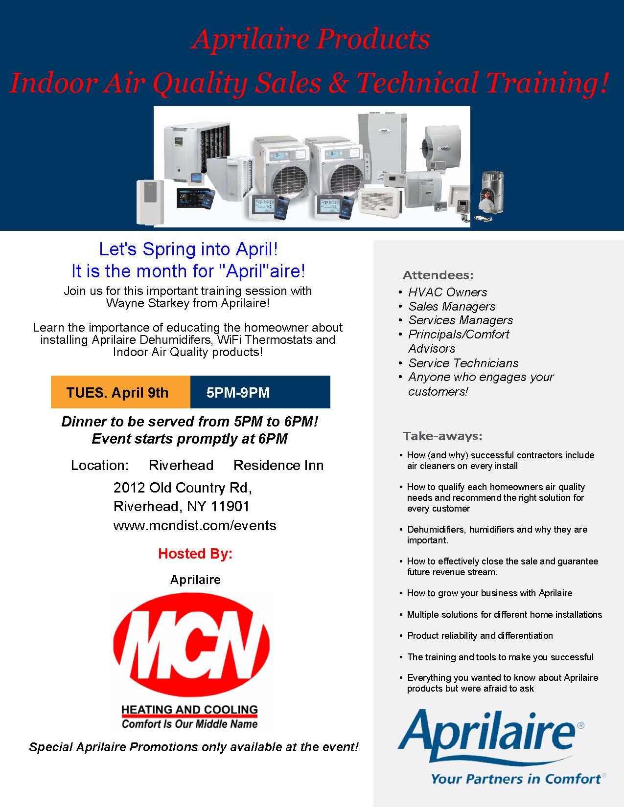 Training | MCN Distributors Inc