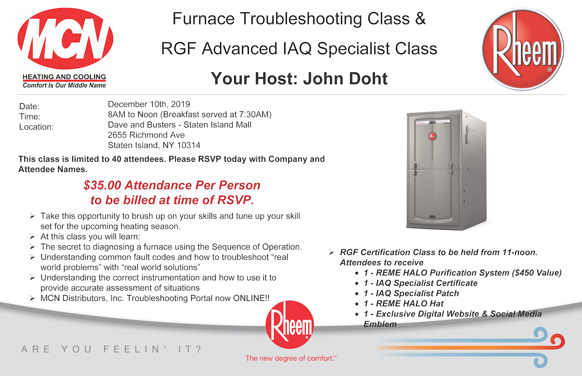 Staten Island- Furnace Troubleshooting Class 12-10-19